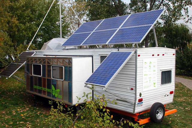solar-powered, mobile artist's studio